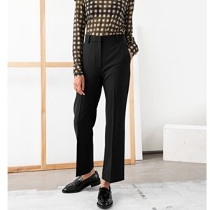 & Other Stories Wool Kick Flare Cropped Pants